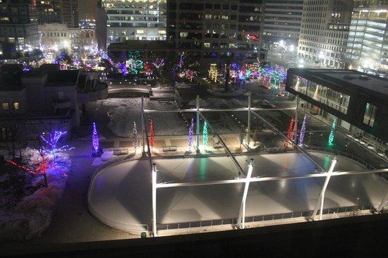 Salt Lake City Marriott City Center: The room overlooks the Gallivan Center
