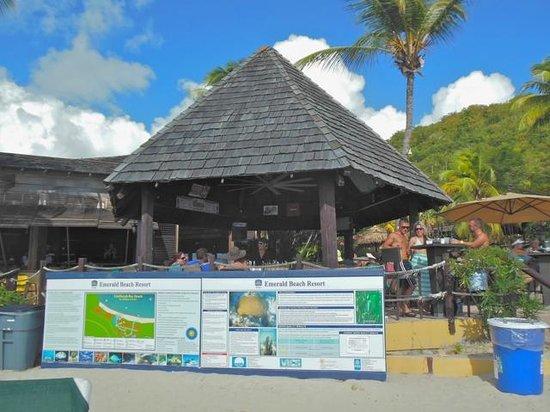Emerald Beach Resort: Awesome Tiki bar on the beach