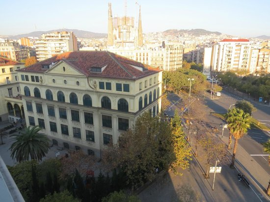 Eurostars Monumental : Vista a partir da janela do meu apartamento no hotel.