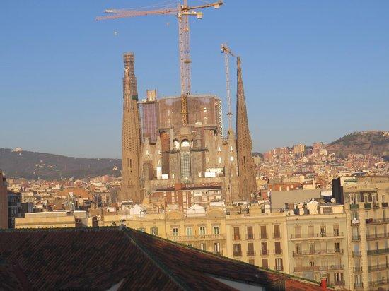 Eurostars Monumental : Vis]ao da Basílica da sagrada Família, da janela do meu apartamento
