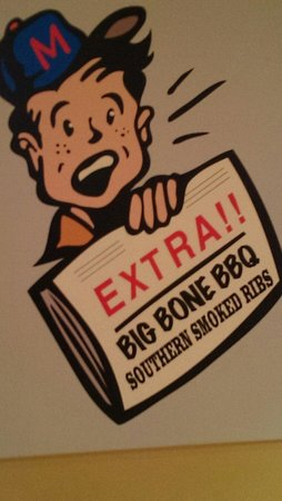 Big Chris BBQ Smokehouse : On inside wall.