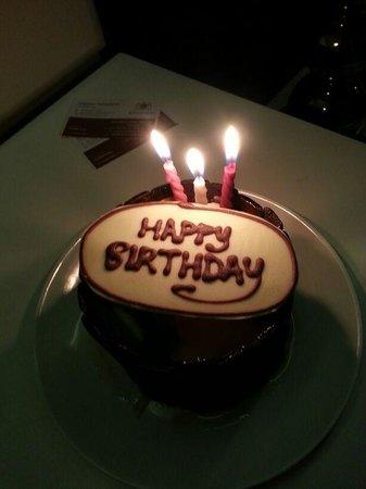Gino Feruci Braga Hotel: Wife's suprise birthday cake.