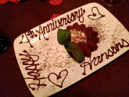 Perry's Steakhouse & Grille - Champions: Our special anniversary dessert, compliments of Perry's.