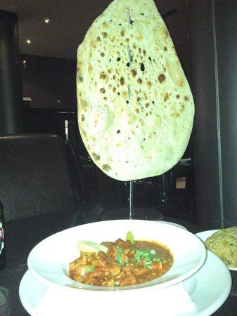 Akbars: This HUGE Garlic Nan Bread was just the standard option!