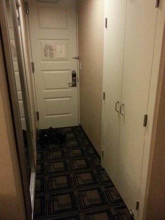 Sheraton New York Times Square Hotel: Closet on right, bathroom door on left.