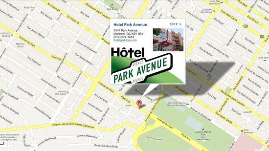 Hotel Park Avenue: map