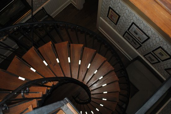 Wentworth Mansion : From the Cupola looking down the Spiral Staircase