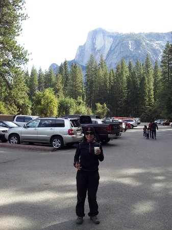 Half Dome Village: lots of parking space