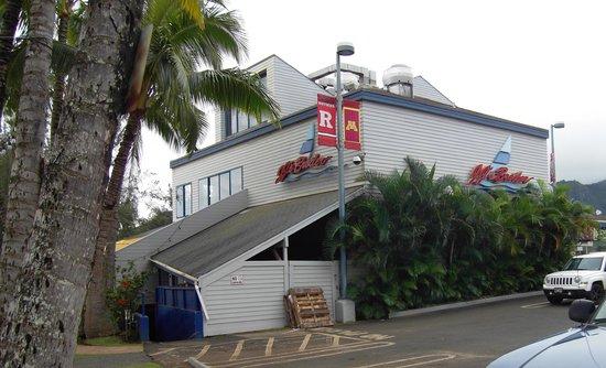 JJ's Broiler: Back side of restaurant