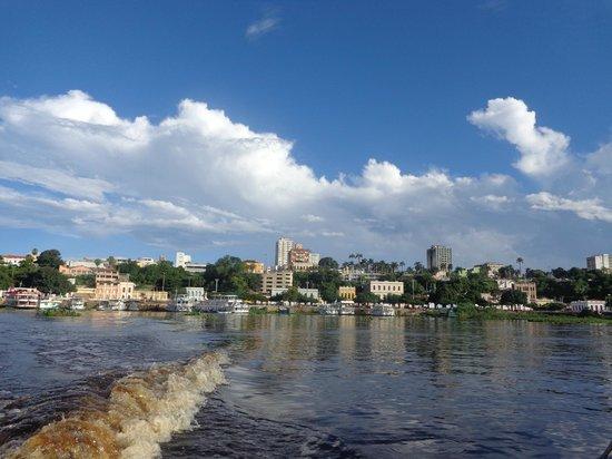 Pantanal: Vista para a cidade de Corumbá