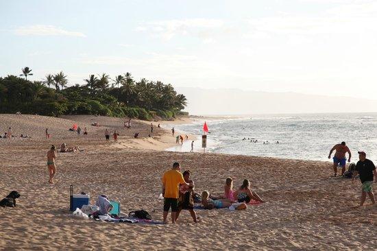 Sunset Beach Park: 夕方近く