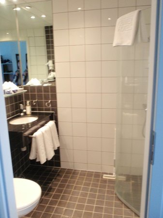 Centerhotel Arnarhvoll : Deluxe room bathroom and shower