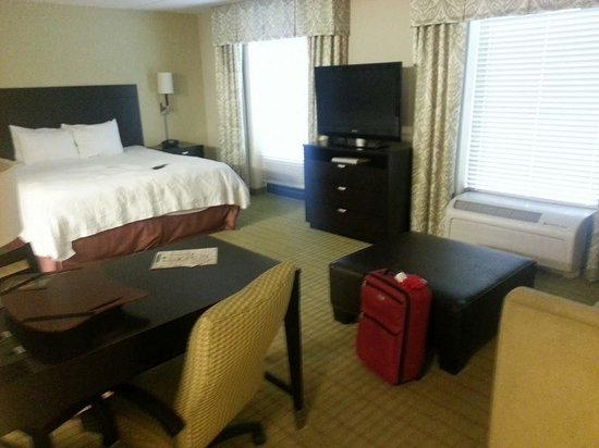 Hampton Inn & Suites Gainesville-Downtown: Giant King Suite Room - Clean and Comfy