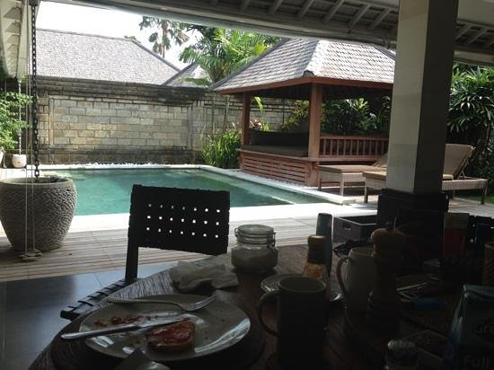 Anyar Estate: View from our kitchentable. Villa Banta.