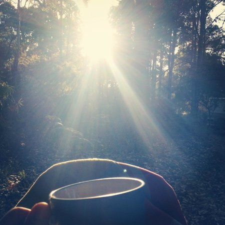 Wharncliffe Mill: Morning cup of tea with the sunrise