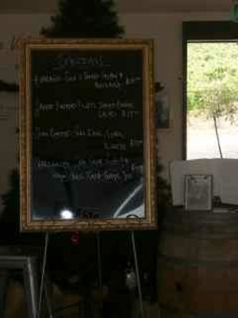 Velo Winery & Cellar Door : Blackboard specials