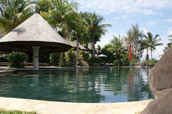 Taman Wana Villas and Spa : Pool swim up bar.