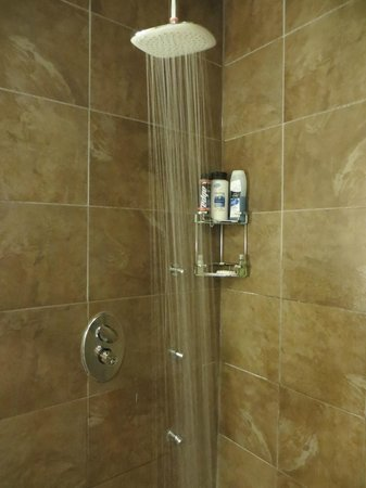 Sterling Inn & Spa: Steam shower with a rain shower head