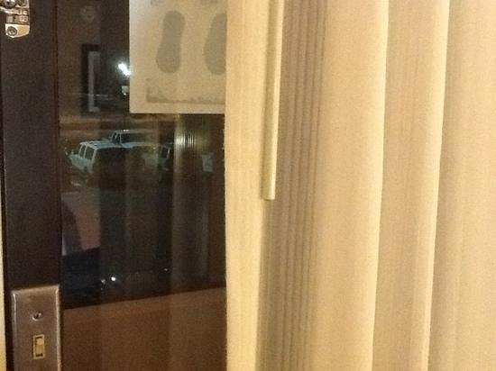 Wyndham Garden Oklahoma City Airport: my window overlooked the hallway whivh had a window looking outside