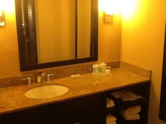 Wyndham Garden Oklahoma City Airport : seperate sink and wc