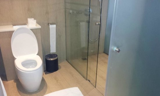 Village Hotel Katong by Far East Hospitality : Club room toilet with staying shower.