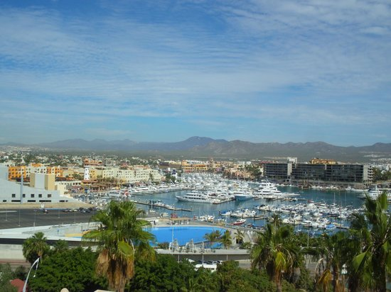 Sandos Finisterra Los Cabos: View of Marina and Dolphin Center from Hotel