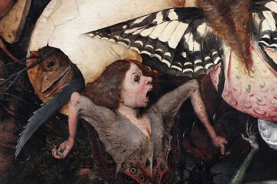 Royal Museums of Fine Arts of Belgium (Musees Royaux des Beaux Arts): Detail from the Fall of the Rebel Angels. The museum shop had a model of this screaming woman.