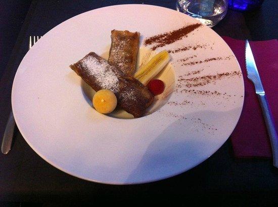 Les Forges: Nems de crêpes banane chocolat!!