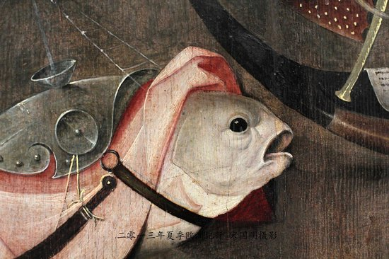 Royal Museums of Fine Arts of Belgium (Musees Royaux des Beaux Arts): Detail from Bosch's work.  I had so much fun with this painting!