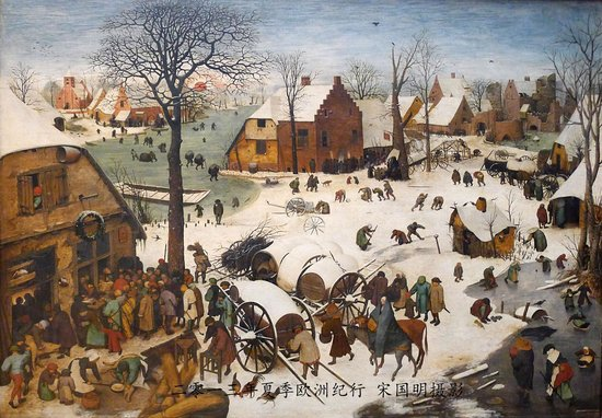 Royal Museums of Fine Arts of Belgium: The Enrollment of Bethlehem by Bruegel the Elder
