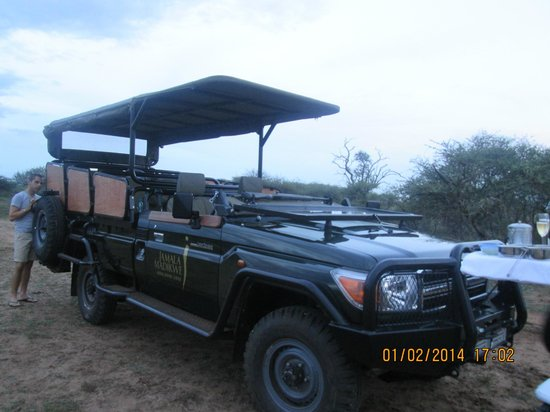 Jamala Madikwe: New safari jeep - very luxurious