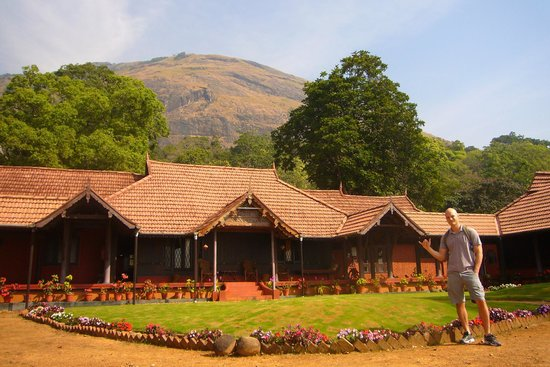 Kollenkeril Plantation Home-Stay Bungalow: The mountain we climbed with Kuttettan