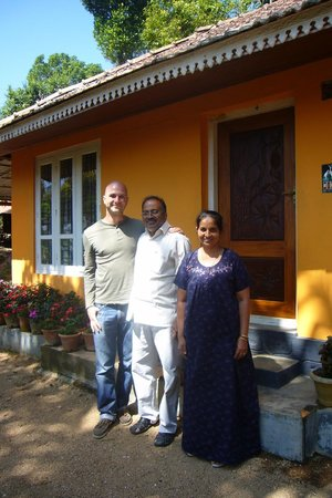 Kollenkeril Plantation Home-Stay Bungalow: Me, Mr. Joseph, and Shandy--his wife