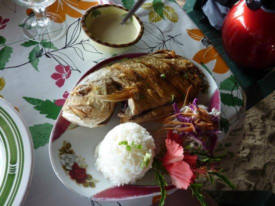 Chez Tara : Carangue à la crème de vanille de Huahine