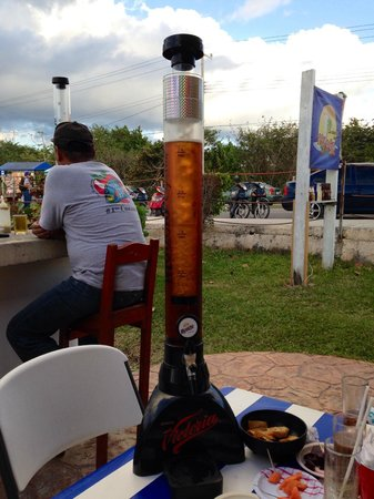 Tio Jose: The light House Beer dispensers!!! great with friends, your choice of beer