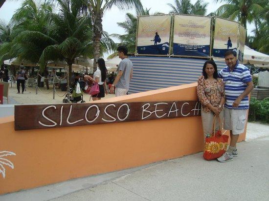 Siloso Beach: beach entrance
