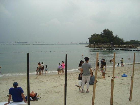 Siloso Beach: beach view