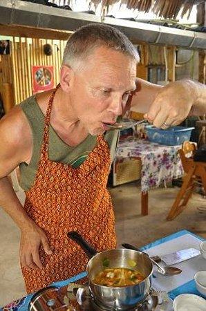 The Kitchen Restaurant Kata Beach & Thai Cooking Class : Prepare, test, eat your own dishes... fantastic!