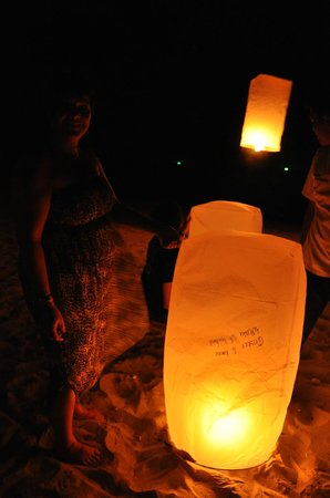 Lanta Castaway Beach Resort: Chinese lantern with good wishes