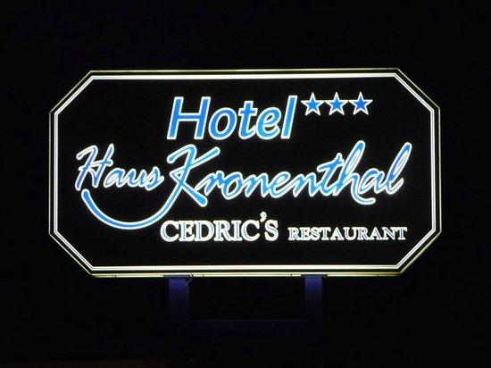 Hotel Haus Kronenthal: Logo Hotel
