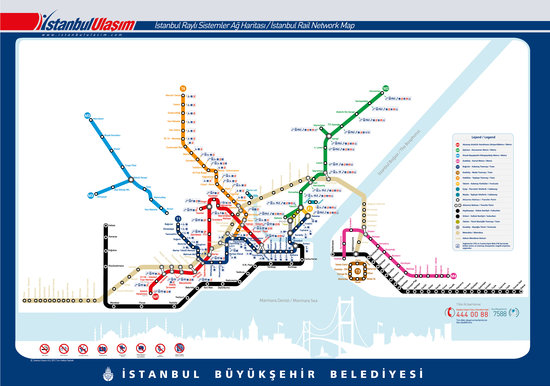 Yazar Hotel: Tram & Metro Map of Istanbul