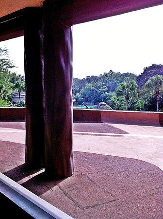 Disney's Animal Kingdom Lodge: Worst view ever, useless balcony!