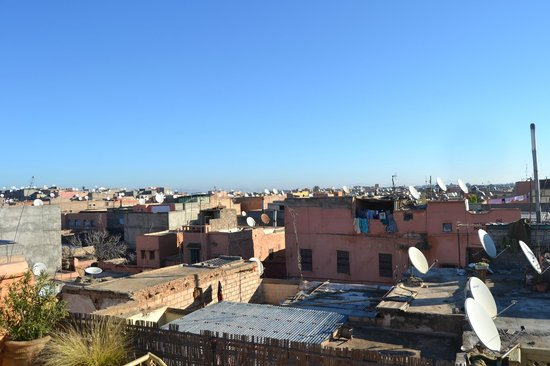 Riad Dar Tayib: View from rooftop terrace