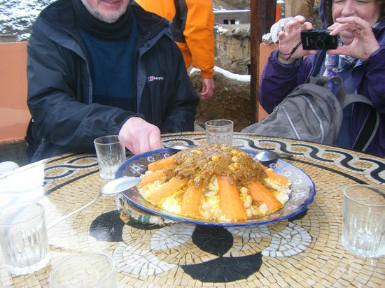 High Atlas Tours - Day Tours: Delicious couscous lunch on terrace