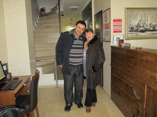 Galata Istanbul Hotel : Mr.Aydin Kaya with me