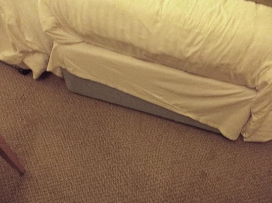 The George hotels idea of a bed valance!!