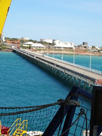 Broome Deep Water Wharf & Jetty: The Jetty at Broome  Photos take on the Dawn Princess Ship.  June 2014.