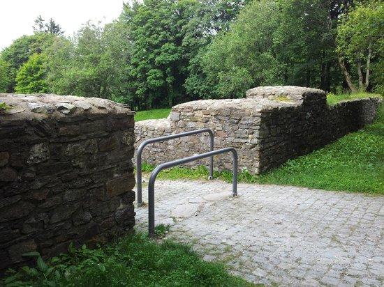 Limeskastell / Roemerkastell Feldberg: Eingang zum Römerkastell