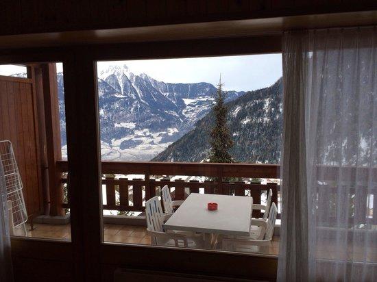 Hotel des Bains d'Ovronnaz : Balcone