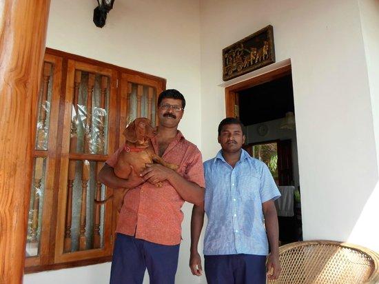 Ocean Hues Beach House: Mr Reddy with Brownie the dachshund and Chandru